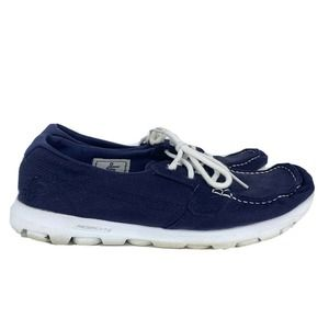 Skechers On The Go Voyage Navy Blue Casual Shoes